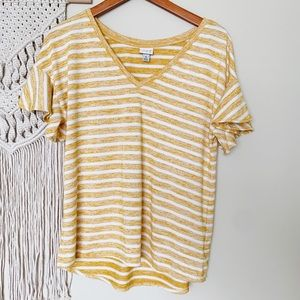 A New Day striped flutter sleeve shirt size medium